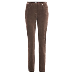 Robell 'Bella' 78cm Cord Trousers - Taupe