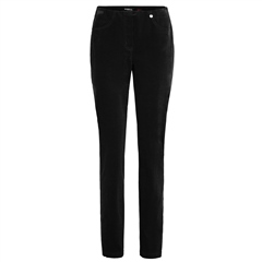 Robell 'Bella' 78cm Cord Trousers - Black