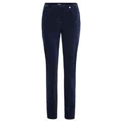 Robell 'Bella' 78cm Cord Trousers - Navy