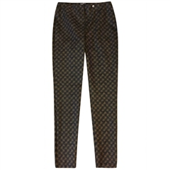 Robell 'Bella' 78cm Houndstooth Print Trousers - Bronze