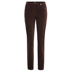 Robell 'Bella' 78cm Cord Trousers - Chocolate