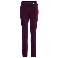Robell 'Bella' 78cm Cord Trousers - Burgundy