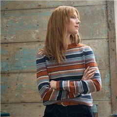 Seasalt 'Art Deco' High Neck Striped Jumper