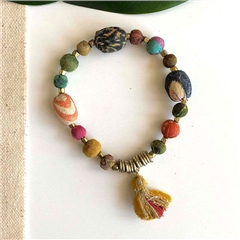 World Finds 'Kantha' Aria Bracelet