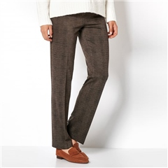 Toni 'Claudia' Check Trousers - Brown Black