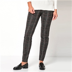 Toni 'Alice' Check Trousers - Black Beige