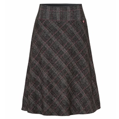 Toni 'True Love' Pull On A-Line Checked Skirt