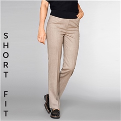 Toni 'Steffi' Short Fit Classic Wool Blend Trousers - Camel