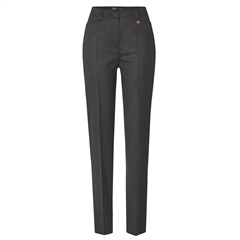Toni 'Steffi' Short Fit Classic Wool Blend Trousers - Graphite