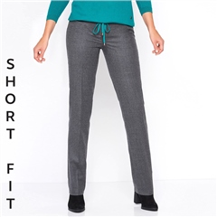 Toni 'Steffi' Short Fit Classic Wool Blend Trousers - Carbon