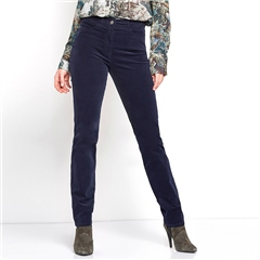 Toni 'Be Loved' Slim Fit Cord Trousers - Dark Blue