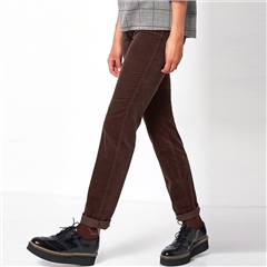 Toni 'Be Loved' Slim Fit Cord Trousers - Brown