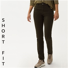 Brax 'Carola' Short Fit Jeans - Dark Olive