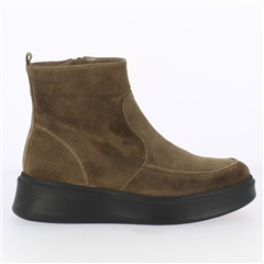 Wonders Suede Flatform Sock Boots - Taupe