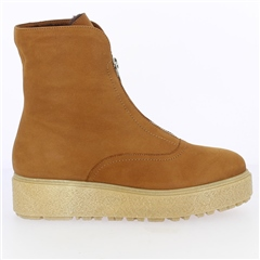 Wonders Suede Zipped Boots - Beach