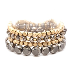 Hill & How Multi Stack Stretch Bracelet - Pewter