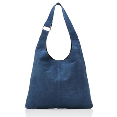 Hill & How Textured Suede Sling Bag - Blue