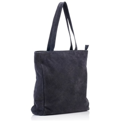 Hill & How Suede Tote Bag - Grey
