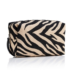 Hill & How Fabric Make-Up Bag - Zebra