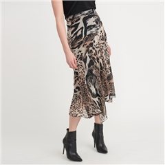 Joseph Ribkoff Animal Print Layered Skirt