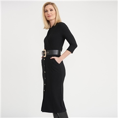 Joseph Ribkoff Belted Crossover Dress