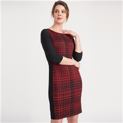 Joseph Ribkoff Check Print Dress