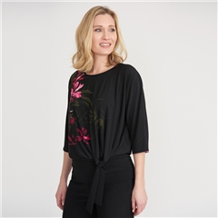 Joseph Ribkoff Floral Motif Layered Top