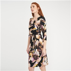 Joseph Ribkoff Floral Print Wrap Dress