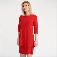 Joseph Ribkoff Layered Dress - Lipstick Red
