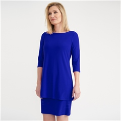 Joseph Ribkoff Layered Dress - Royal Sapphire
