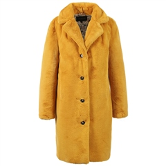 Oakwood 'Cyber' Teddy Fur Coat - Dark Yellow