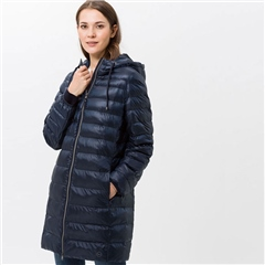 Brax 'Basel' Hooded Padded Long Coat