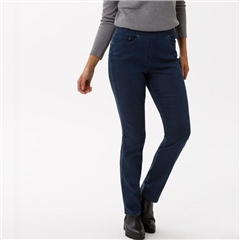 Brax 'Pamina' Pull-On Denim Trousers - Blue
