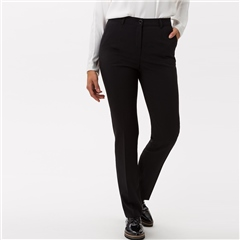 Brax 'Silvia' Classic Wool Mix Trousers - Black