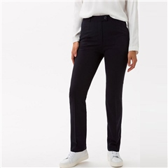 Brax 'Silvia' Classic Wool Mix Trousers - Navy