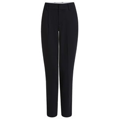 Oui Cropped Tapered Trousers - Black