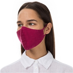 Grizas Reusable Linen Face Mask - Fuschia