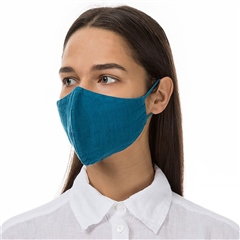 Grizas Reusable Linen Face Mask - Teal