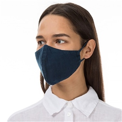 Grizas Reusable Linen Face Mask - Navy