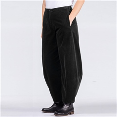 Oska 'Wucka' Corduroy O-Shape Trousers - Black