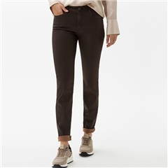 Brax 'Shakira' Leather Look Coated Trousers - Brown