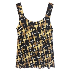 Georgede Abstract Squares Print Jacket And Camisole Twinset