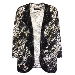 Georgede Embellished Animal Lace Jacket