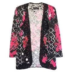 Georgede Embellished Floral Lace Cover-Up Jacket
