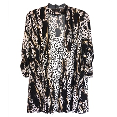 Georgede Leopard Print Jacket And Camisole Twinset