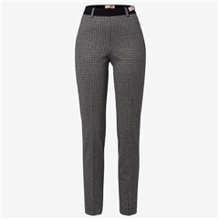 Brax 'Lillyth' Houndstooth Print Pull-On Trousers - Black
