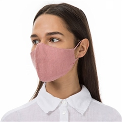 Grizas Reusable Linen Face Mask - Dusty Pink