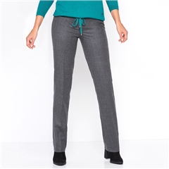 Toni 'Steffi' Classic Wool Blend Trousers - Carbon
