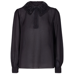 Levete Room 'Lucille' Lace Collar Silk Chiffon Blouse
