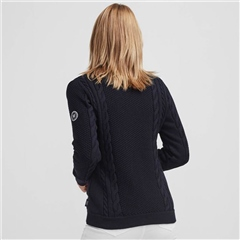 Holebrook 'Jossan' 100% Cotton Cable Knit Windproof Jacket - Navy